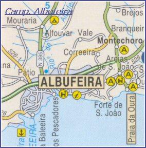 montechoro mapa Mapas de Albufeira   Cartes de Albufeira   Maps of Albufeira montechoro mapa